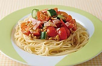 蕃茄納豆義大利麵